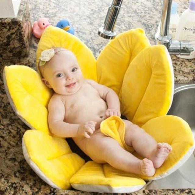 Baby Flower Shower Bath Mat Anti-slip Sponge