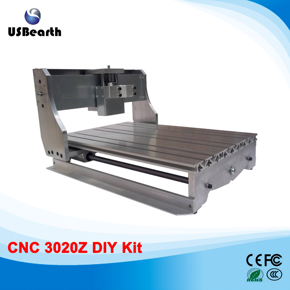 All cast aluminum CNC frame for CNC router 3020 with ball screw, easy to assemble cnc router mini aluminum frame 3040z ball screw with 4pcs toggle clamp