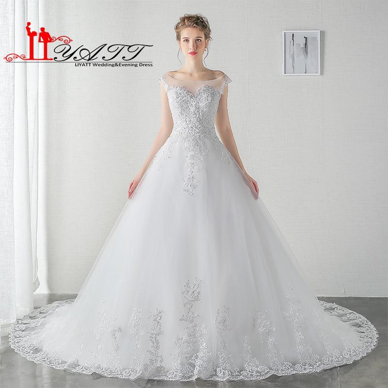Vintage Beach Wedding Dresses 2017 Bride Ball Gown Arabic