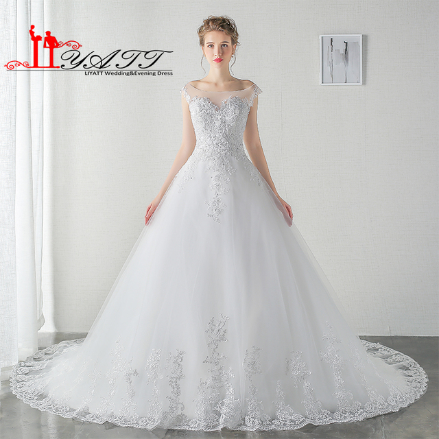 Vintage Beach Wedding Dresses 2017 Bride Ball Gown Arabic Lace Cap ...