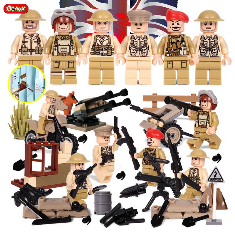 Oenux Newest 6PCS WW2 The Battle Of Imphal Military Scenes Model UK British Army Figures Building Block Brick Educational ToysOenux Newest 6PCS WW2 The Battle Of Imphal Military Scenes Model UK British Army Figures Building Block Brick Educational Toys