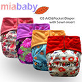 Miababy AIO and pocket cloth diaper, onesize fit all, with sewn insert, waterproof and breathable, no rash