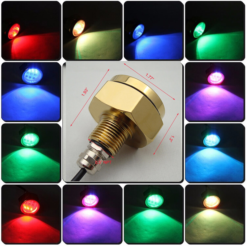 Marine Boat Yacht Light 12v 27w RGB remote LED Boat marine light Underwater Light For fishing boating light Swimming pool
