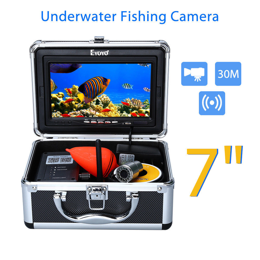 EYOYO WF13W Wifi Underwater Ice Fishing Camera 30m Infrared 1000TVL DVR Underwater Cameras For Fishing Night Vision Fish Finder 30m underwater fish cameras finder sea real time live underwater ice video fishfinder fishing camera ir night vision 4 3 screen