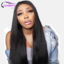 Cranberry Brazilian Lace Front Human Hair Wigs For Black Women Remy Straight Lace Front Wig(China)