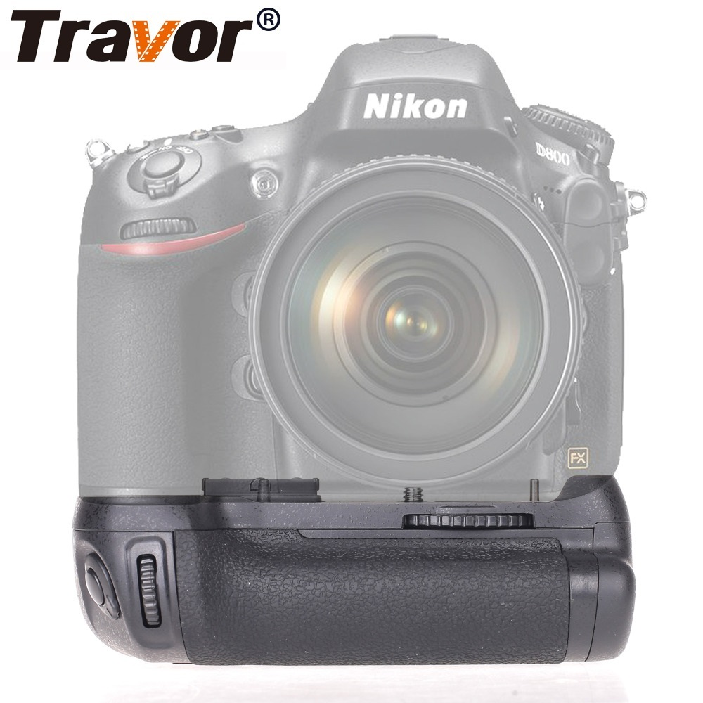 Travor Vertical Camera Battery Grip For NIKON DSLR D810 D800 D800E Battery Handle Work With EN-EL15 Replace MB-D12 travor vertical battery grip holder for nikon d850 mb d18 dslr camera battery handle work with en el15 battery