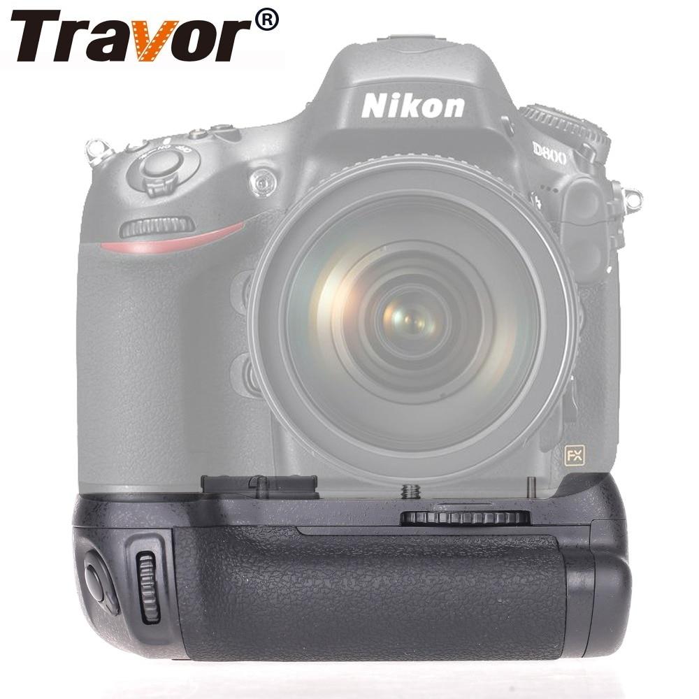 Travor Vertical Camera Battery Grip For NIKON DSLR D810 D800 D800E Battery Handle Work With EN-EL15 Replace MB-D12