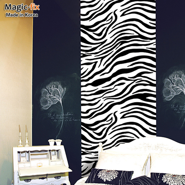 Free Shipping Wallpaper Wallpaper Bedroom Wall Furniture Stickers Sticky  Notes Zebra Print Dps044