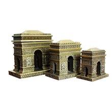 European Zinc Alloy Paris Arc De Triomphe Miniature Creative Arc De Triomphe Mini Model Desktop Decor Craft Home Decoration Toys