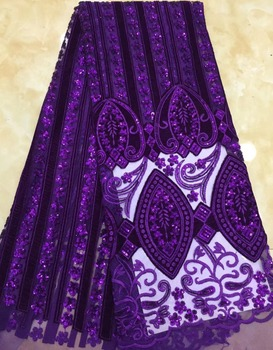 Newest African Tulle Lace Fabrics Velvet Teal Embroidery Net Lace African French Lace High Quality With Sequins ML7579