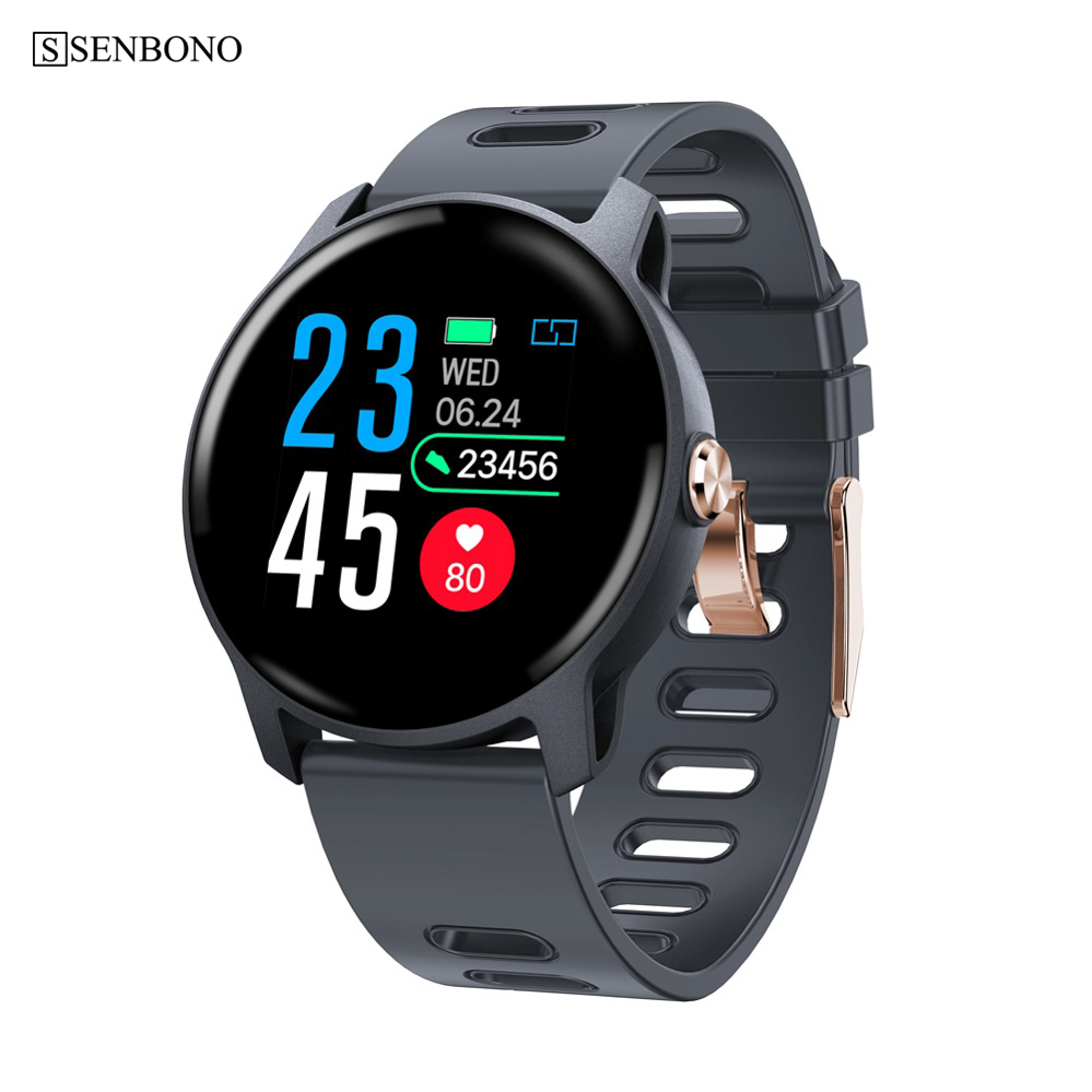 SENBONO S08 Bluetooth Sport Smart watch IP68 waterproof Clock Fitness tracker Heart rate monitor Smartwatch for IOS Android Фитнес-трекер