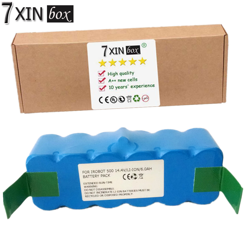 7XINbox 6000mAh Li ion Battery For iRobot 500 532 540 550 570 580 R3 510 562