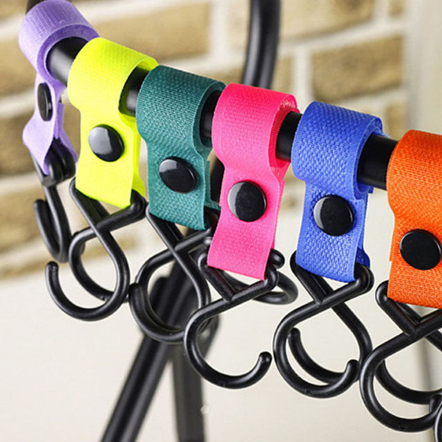 5Pieces/Lot Baby Stroller Accessories Hook For Pushchair Pram Baby Carriage Stroller Multi Colors