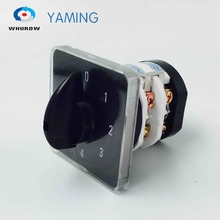 Rotary switch knob 5 position 0-4 YMZ12-32/2 universal combination manual electrical changeover cam switch 32A 690V 2 phases free shipping 1pcs rotary switch 0 4 position 660v 20a 2 phases 8 terminals electrical changeover cam switch ymz12 20 2