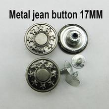 50 шт. 17 мм пистолет BLACK STAR дизайн металла джинсы кнопку бренд Круглый Кнопки Одежда Аксессуары MJB-184