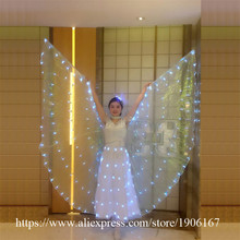 Fashion Led Carnival Evening Dress With Headwear Sexy Women Led luminous Party Wings Christmas Decoration Led Ballet Dress