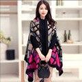 2016 Мода Хлопок Треугольник eometric моделей Зимний Шарф Женщины Платок Мыса Одеяло Плед Платки Оптом Шарф 4