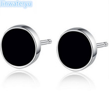 Fashion Jewelry 925 pure silver stud Earring  for men, Jinwateryu Mens earrings
