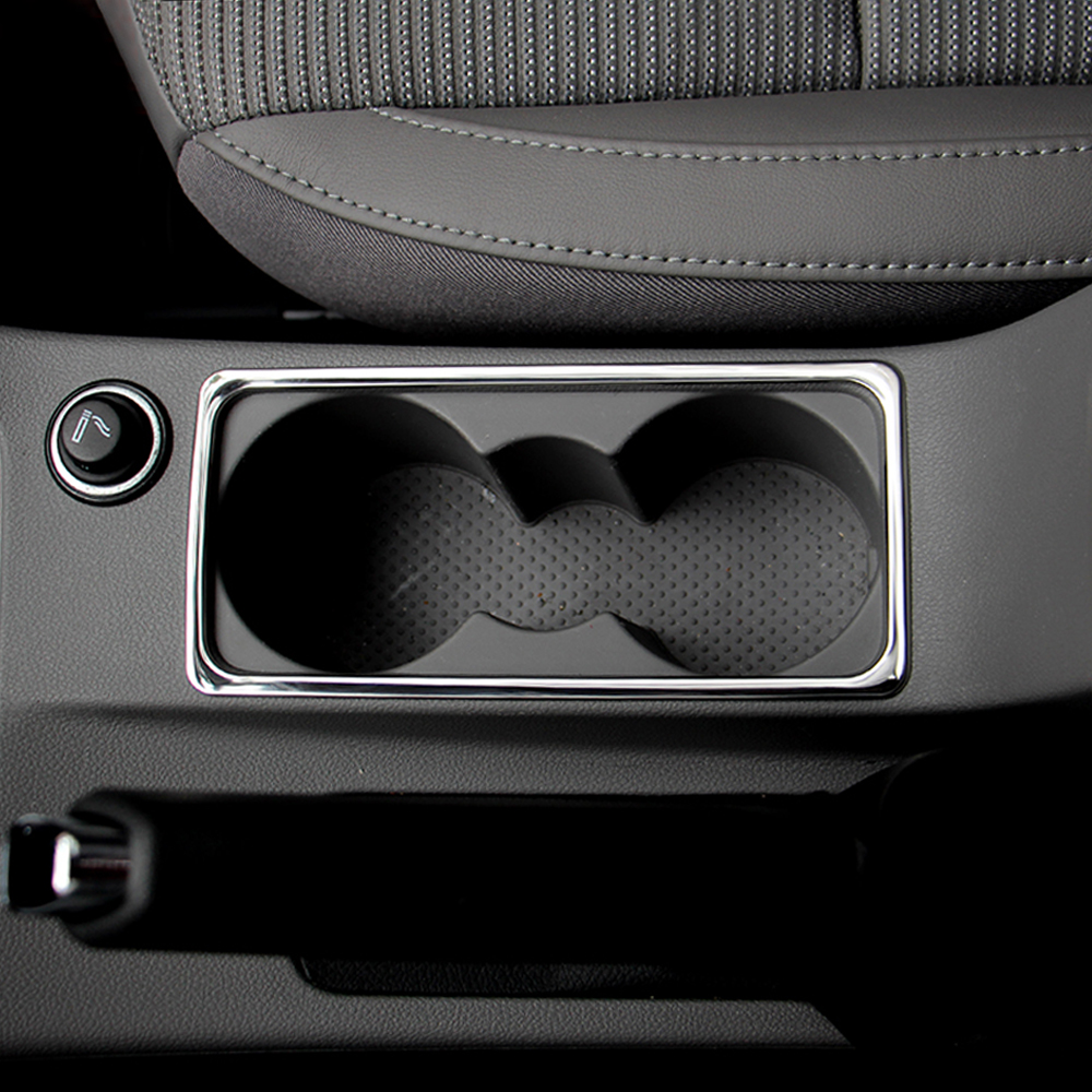 Aliexpress com acheter en acier inoxydable int rieur de la voiture porte gobelet d eau cadre d coration couverture autocollant pour skoda octavia a7 un 7