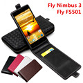 Classic Luxury Advanced Top Leather Flip Leather case For Fly Nimbus 3 FS501 Fly Nimbus3 FS 501 Phone Cover Case With Card Slot