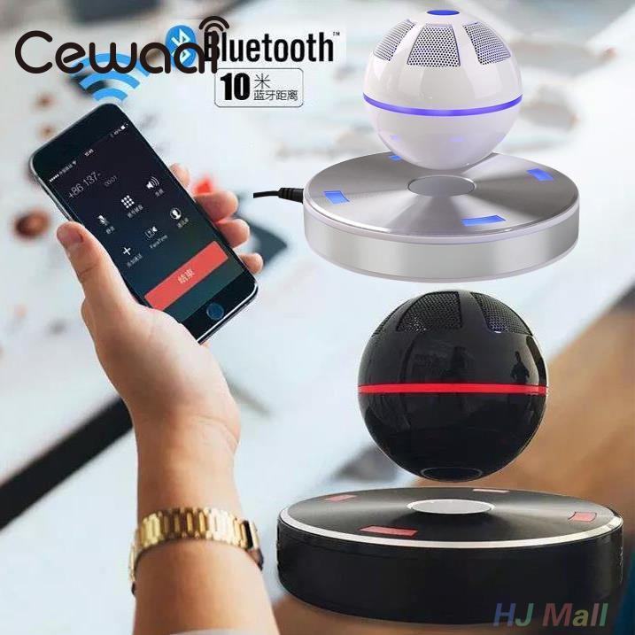 Universal Magnetic Levitating Floating Maglev Stereo Bluetooth 4.1 Speaker White цена