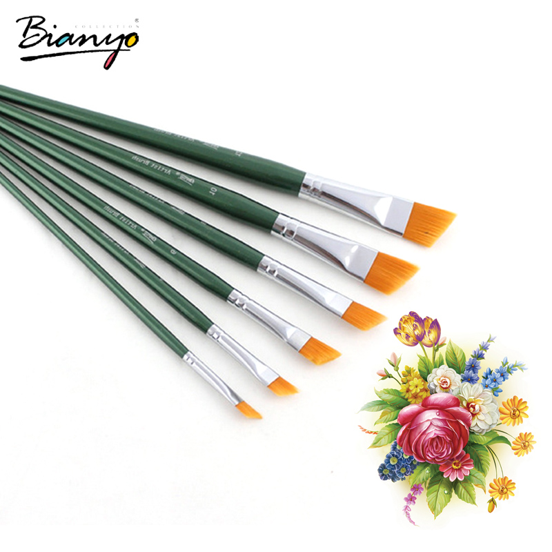 bianyo 6pcs artist brushes