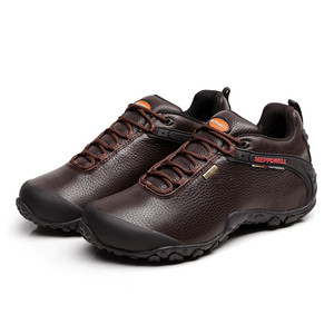 Image 3 - High Quality Unisex Hiking Shoes Autumn Winter genuine leather Outdoor Mens women Sport Trekking Mountain Athletic Shoes 224 5