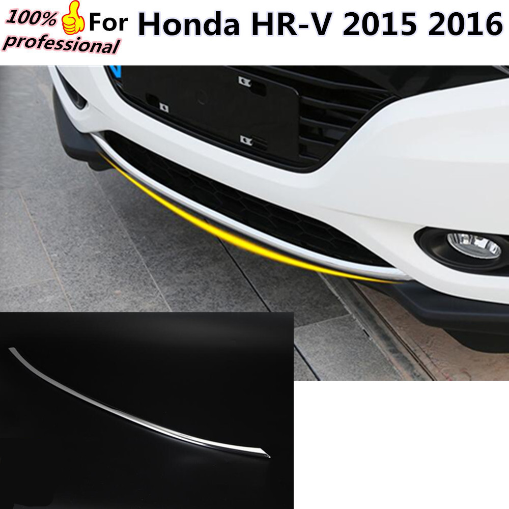 High Quality Car body cover protection Bumper ABS Chrome trim rear back tail bottom Around 1pcs for Honda HR-V HRV 2015 2016 hot car abs chrome carbon fiber rear door wing tail spoiler frame plate trim for honda civic 10th sedan 2016 2017 2018 1pcs