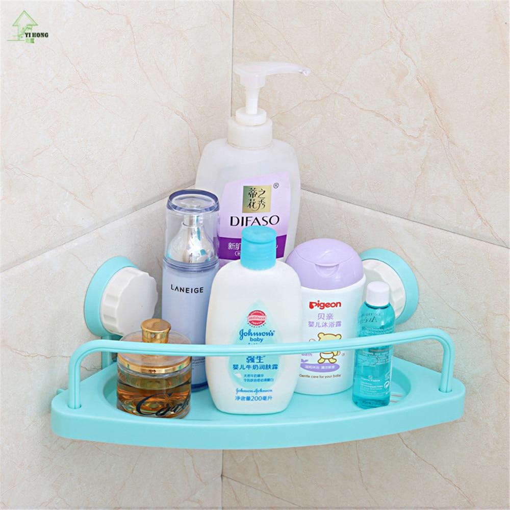 YIHONG Plastic Bath Corner Shelf bathroom triangle towel shelf ...