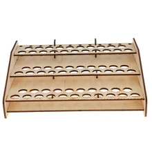 Top Quality 63 Paints Stand Rack DIY Wood Paints Bottle Storage Rack Organizer Brushes Tool Storage Holder Artist Painting Tool