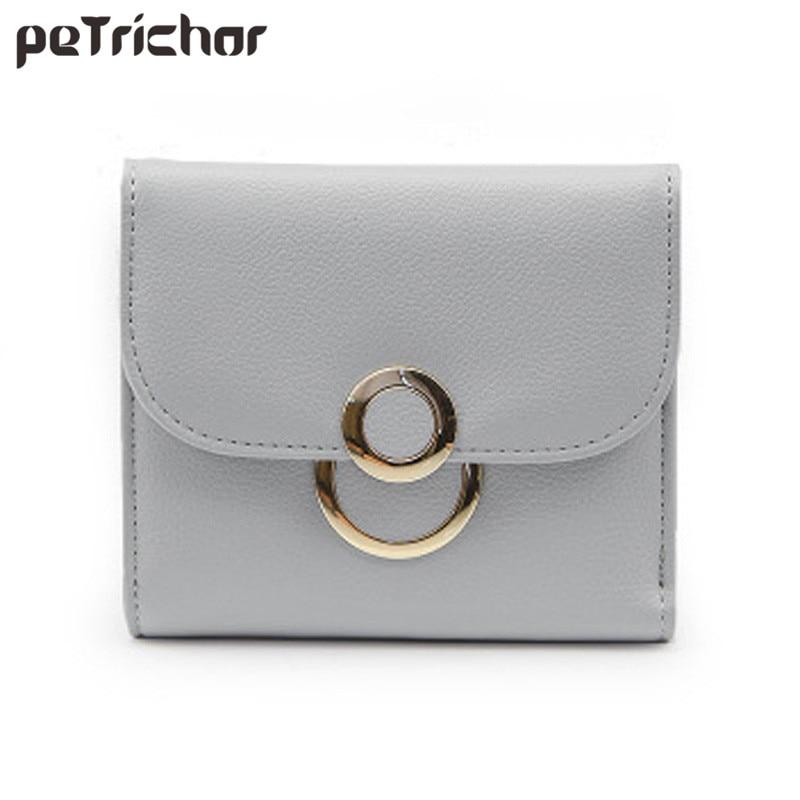 패션 새로운 Hasp 여성 짧은 지갑 PU 가죽 동전 주머니 홀더 돈 작은 클러치 지갑 여성을위한 브랜드 디자이너