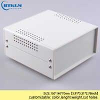 Ferro custodia per elettronica fai da te strumento di caso di caso del progetto di ferro scatola di derivazione elettrica di 150*140*70mm BDA40004 (W140)