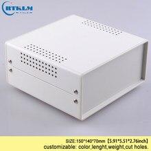 Żelazna obudowa do elektroniki obudowa przyrządu diy projekt przypadku żelaza elektryczna skrzynka przyłączeniowa DIY wzmacniacz metalowe pudełko 150*140*70mm