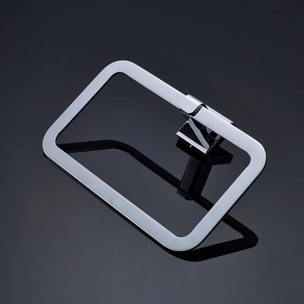 FLG w całości z miedzi Chrome akcesoria łazienkowe zestaw pojedynczy wieszak na ręcznik, wieszak ścienny, uchwyt na papier do kąpieli zestawy sprzętu, w stylu rosyjskim