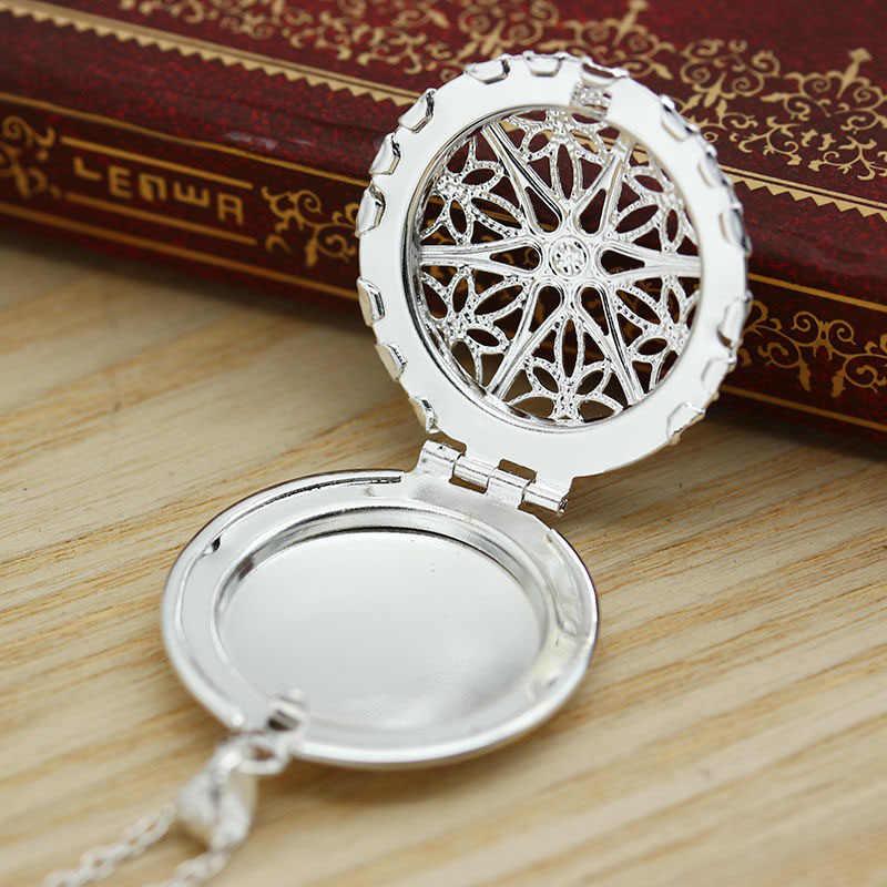 Colgante de medallon de plata con forma de corazón abierto, foto de mujer, collar, cadena hueca redonda, Concha cuadrada, imagen de gota de agua