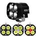1pcs 9V-36V U3 Waterproof LED motor light motorcycle ATV UTV headlight Driving Light Fog lamp strobe spot light
