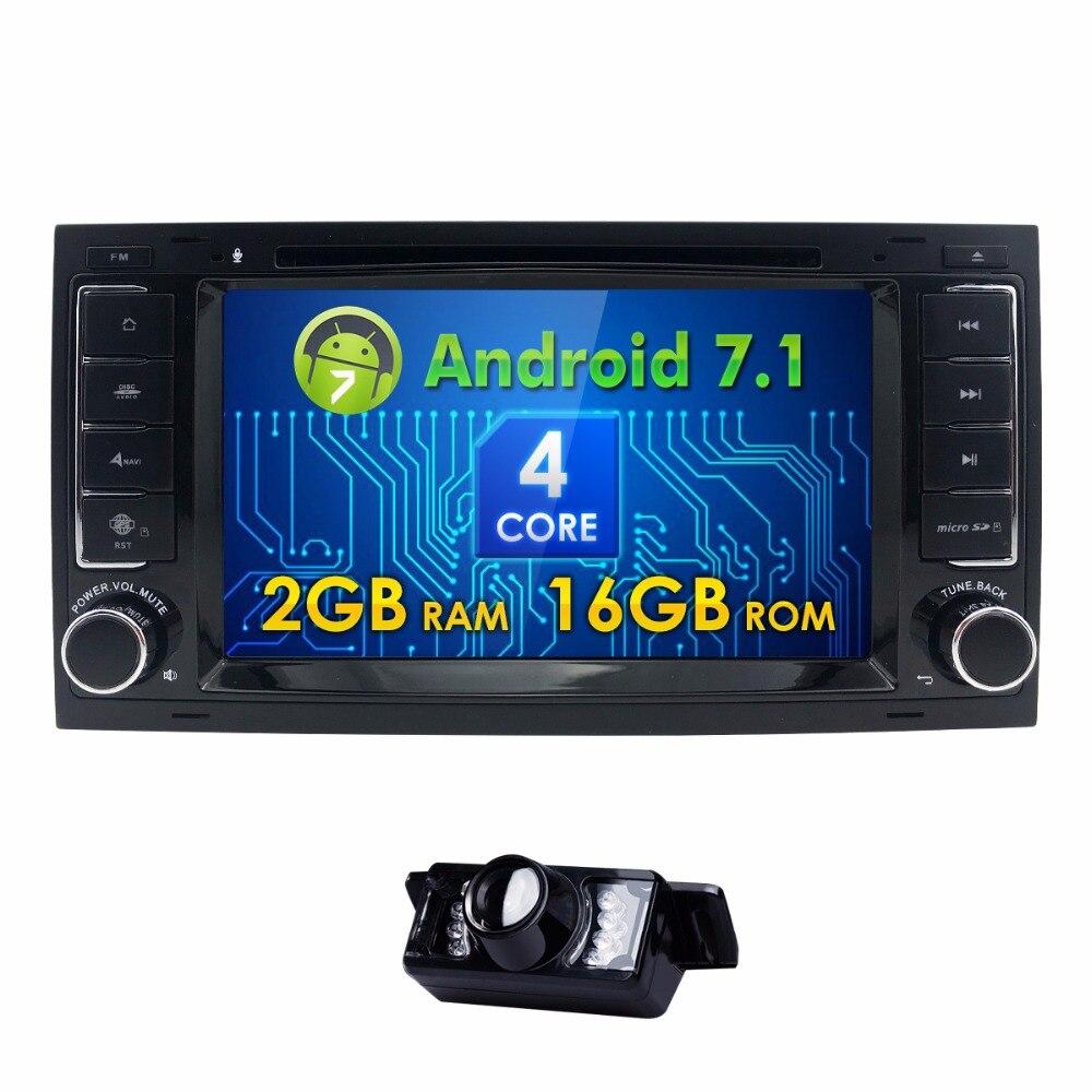 Android 7.1 4G SIM LTE QuadCore 2G RAM Car DVD GPS Radio for Volkswagen Touareg T5 Transporter Multivan 2004-2011 Stereo SWC BT
