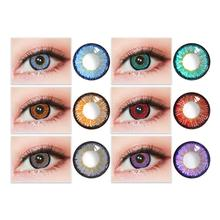 2Pcs Big Eye Beauty Pure Colored Contact Eyes Lens Cosmetic