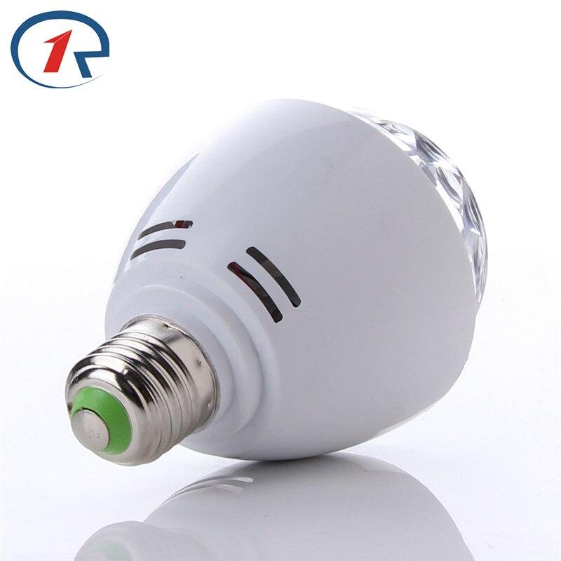 ZjRight E27 LED yüngül Dəyişən rəngli 3W RGB Kristal Dönən - Ticarət işıqlandırması - Fotoqrafiya 2
