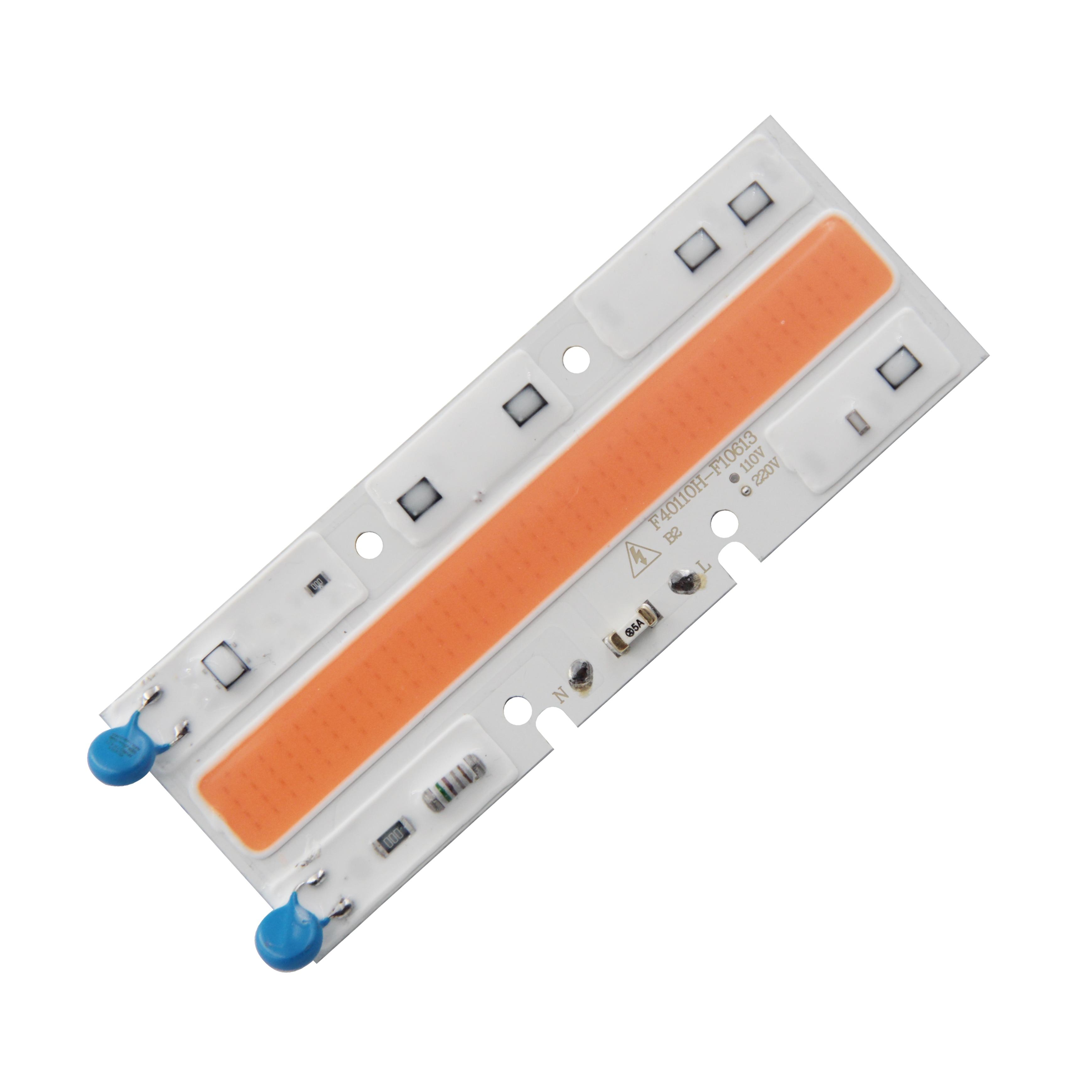 Купить с кэшбэком Driverless AC 220V 50w 110x40mm led cob chip diode warm white 380-840nm for flood light plant grow  full spectrum COB LED strip