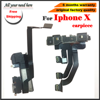 free shipping 1pcs Proximity Light Sensor Flex Cable + Earpiece Earspeaker Module For iPhone X 10 Replacement Repair Parts