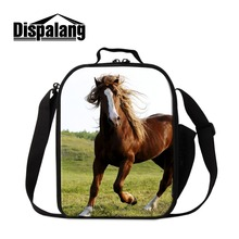 Dispalang Horse font b Lunch b font font b Bag b font for Children Animal Print