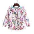 New Spring Autumn Girl Baby Jacket for Girls Graffiti Mouse Coats Girl Cartoon Outerwear Clothes Kids Childrens Windbreaker