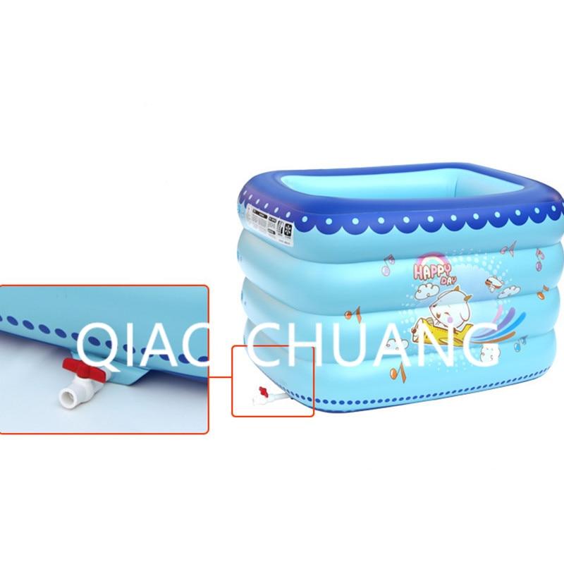 Надувной бассейн мультфильм печати сохранение тепла детская ванночка ПВХ утолщаются износостойкие детский бассейны G979
