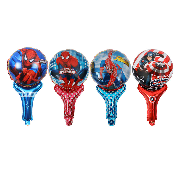 50pcs/lot Spiderman Hand hold Foil Balloons Happy Birthday Wedding Decoration balloon Event Party Supplies Globos Air Balls