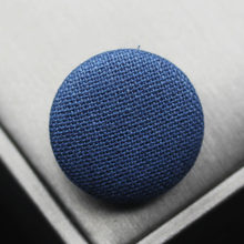 Free shipping 10pcs/lot Blue Cotton and linen button cloth buttons Chinese wind blazer coat buttons 15mm-38mm(China)