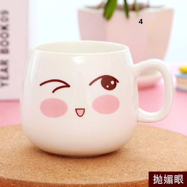 Creative Cartoon Cute Coffee Mugs Water Container Cup Trave Mug Christmas Birthday Best Gif