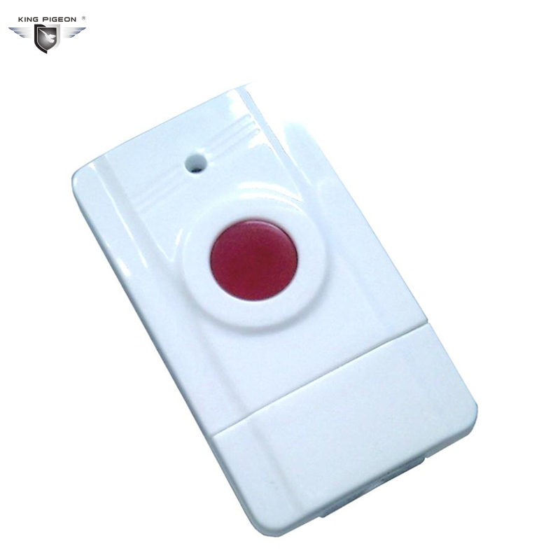 433MHz Wireless GSM Elderly Emergency Button Panic Button Personal Work With GSM SMS Security Alarm System King Pigeon EM-100 wireless service call bell system popular in restaurant ce passed 433 92mhz full equipment watch pager 1 watch 7 call button