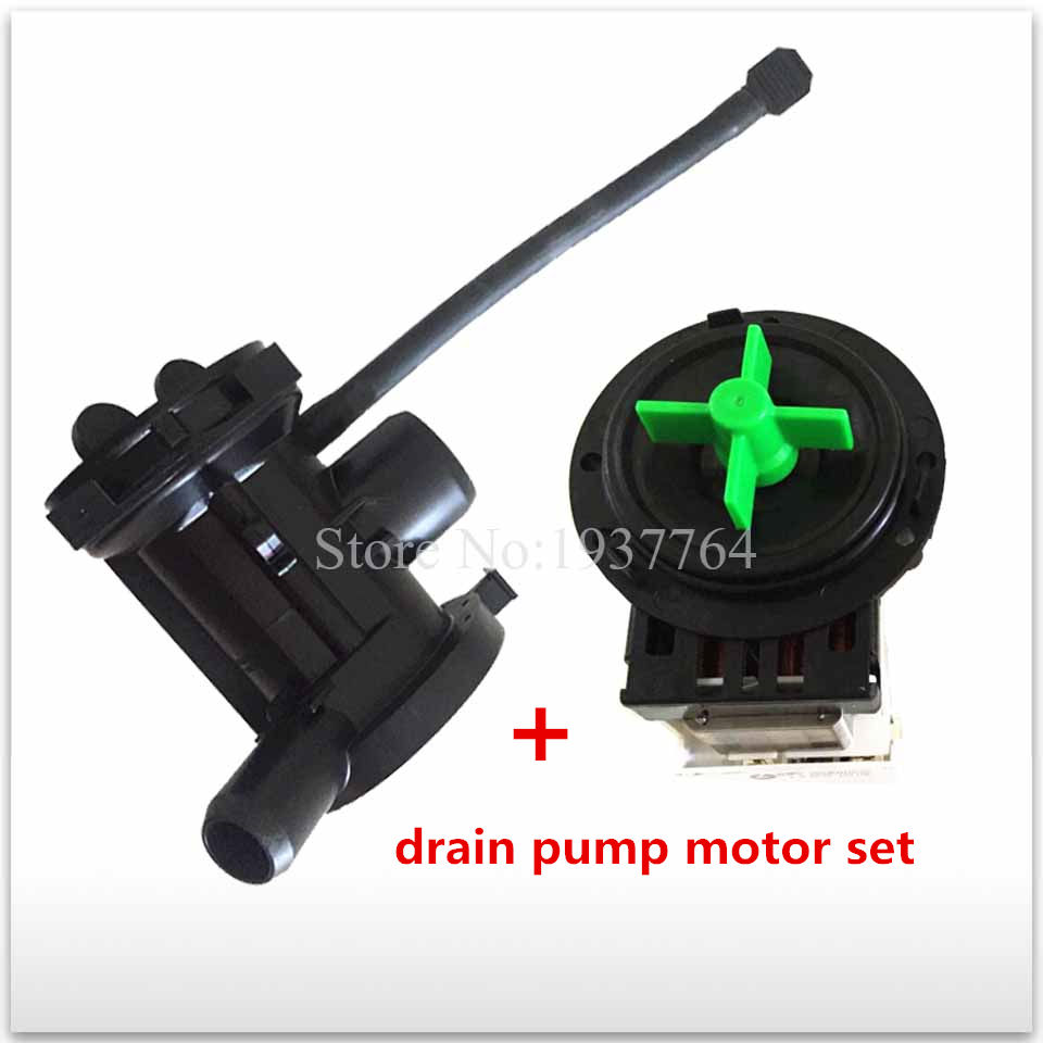 1set new for washing machine part BPX2-8 BPX2-7 BPX2-111 BPX2-112 Drain pump plug new for washing machine parts b30 6a drain pump motor 30w good working