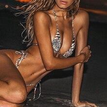 Halter leopard bikini